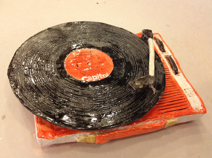 Rose Eken Record Player Sculpture