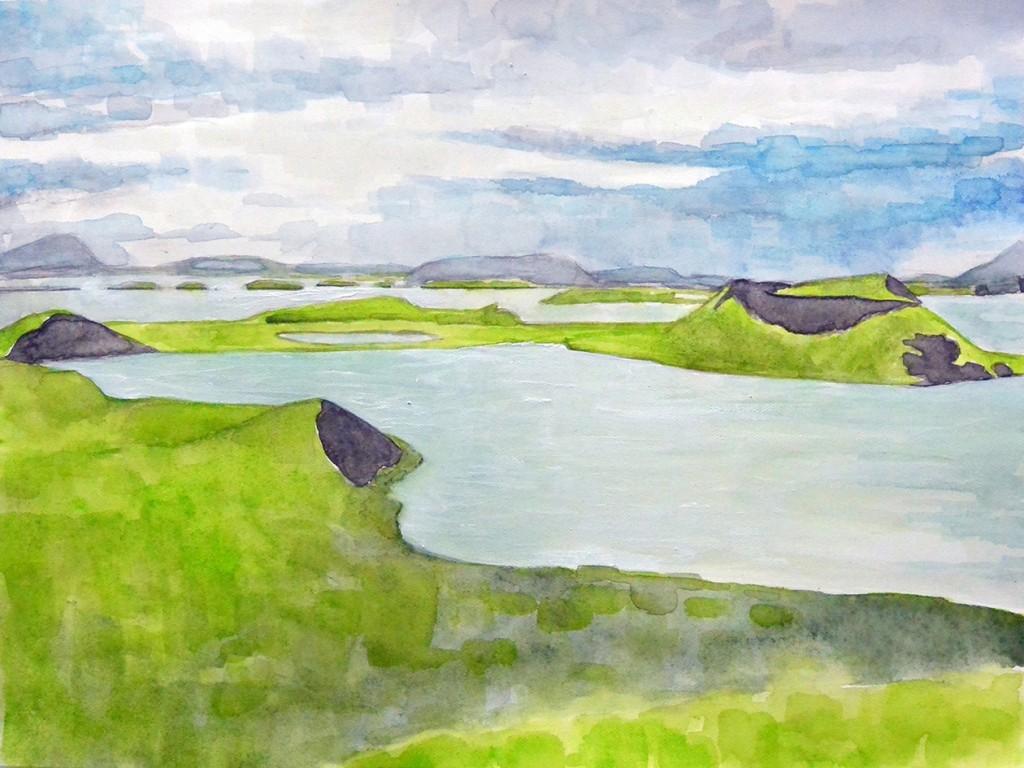 Frank Webster - The Pond Stakholstjorn, watercolor