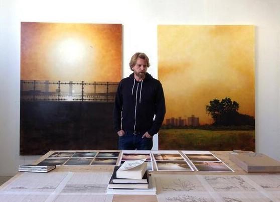 Frank Webster in his Brooklyn studio