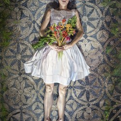 """Melanie Vote, Place Like Home (2008-16, oil on linen on panel, 26""""x18"""")"""