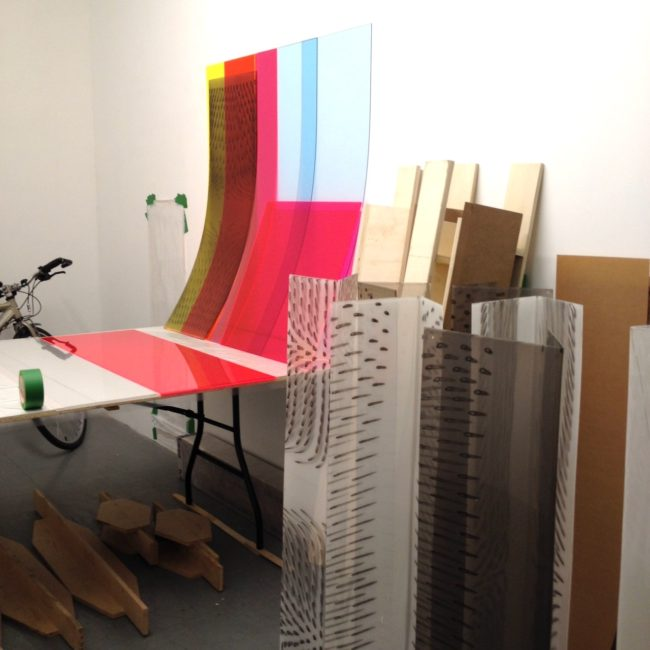 In Julie Trudel's studio.