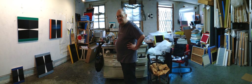 Voisine in his studio. All photographs by Paul D'Agostino.