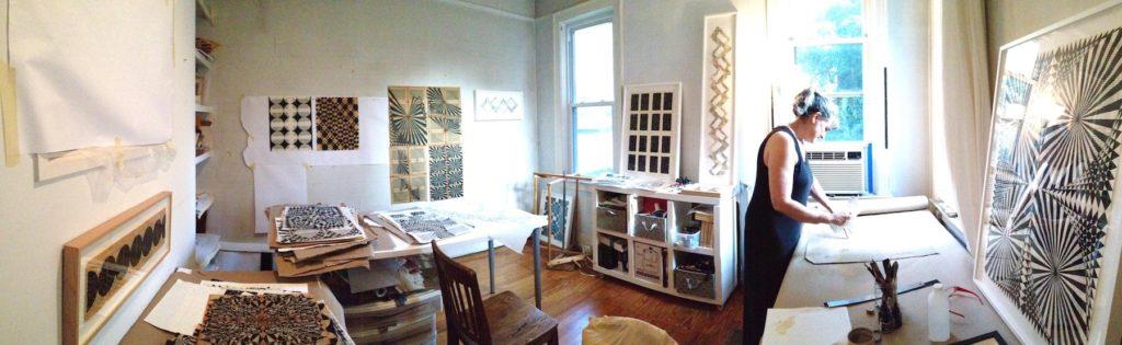 Stender in her studio.